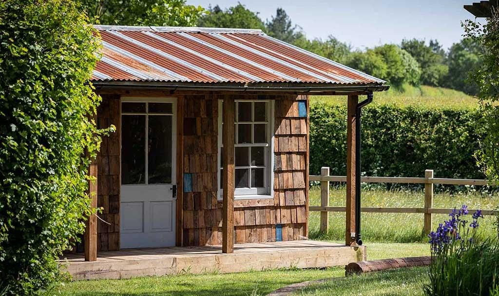 Reclaimed wooden garden building